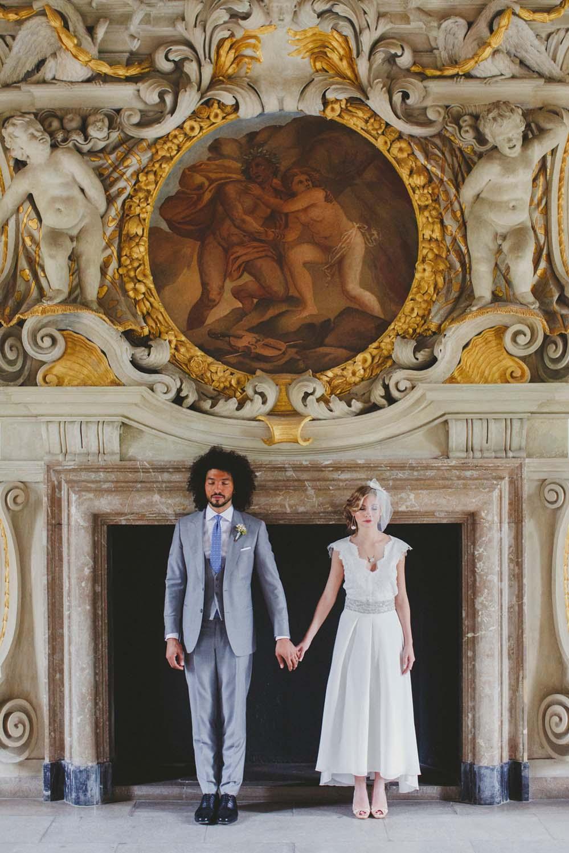 Hochzeitspaar in der Orangerie