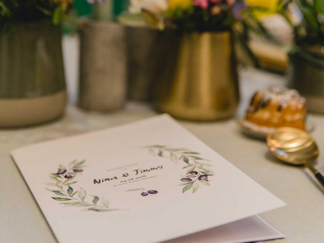 Einladungs-Karte: Boho, Blumenillustration, Floral