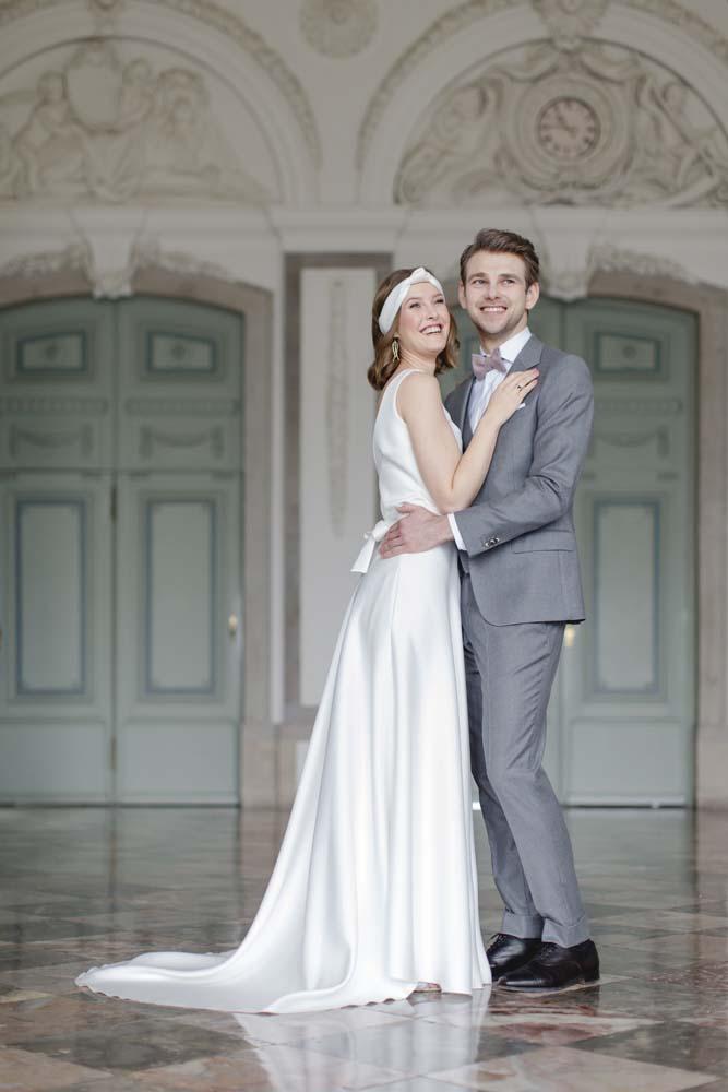 Hochzeitspaar im Schloss Benrath