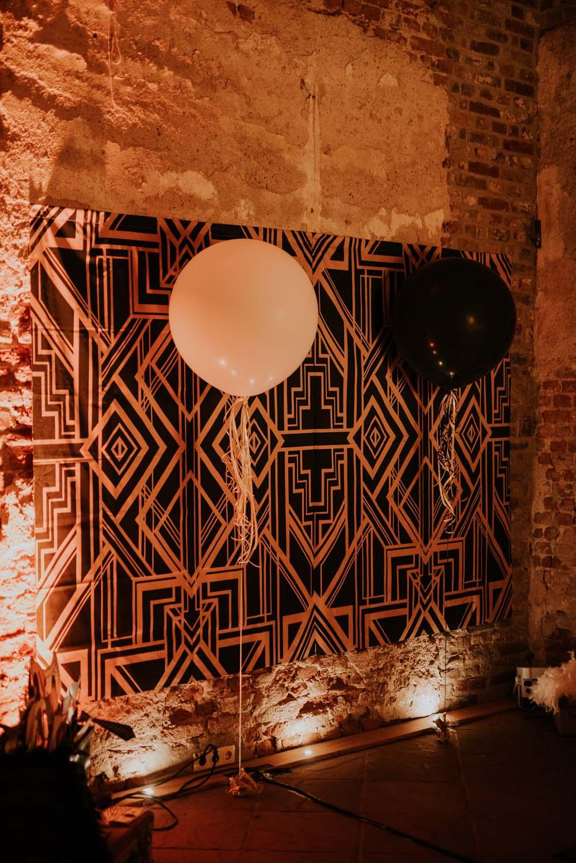 Art Deco - Muster auf Hochzeitsfeier