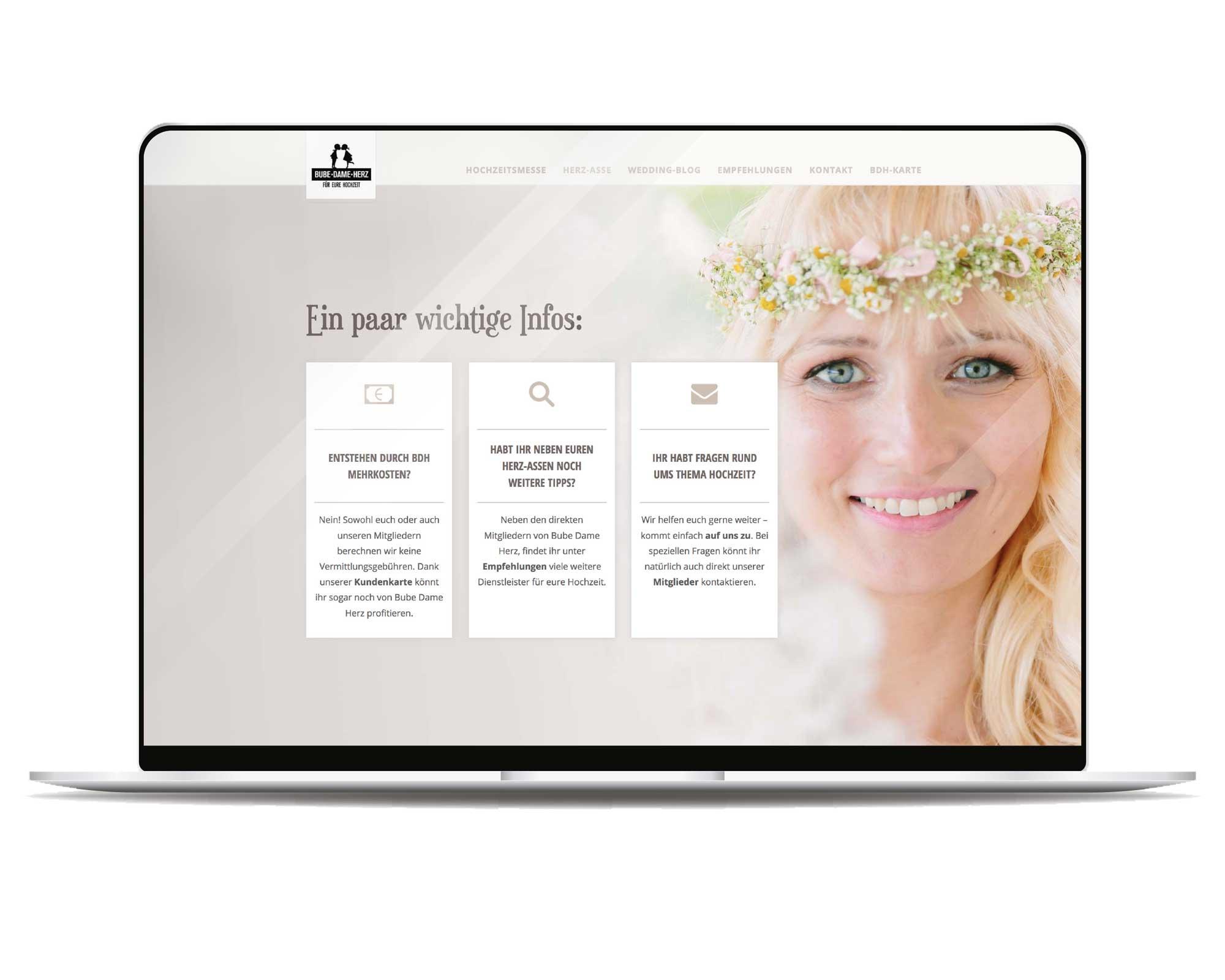 Ansicht der neuen BDH - Website