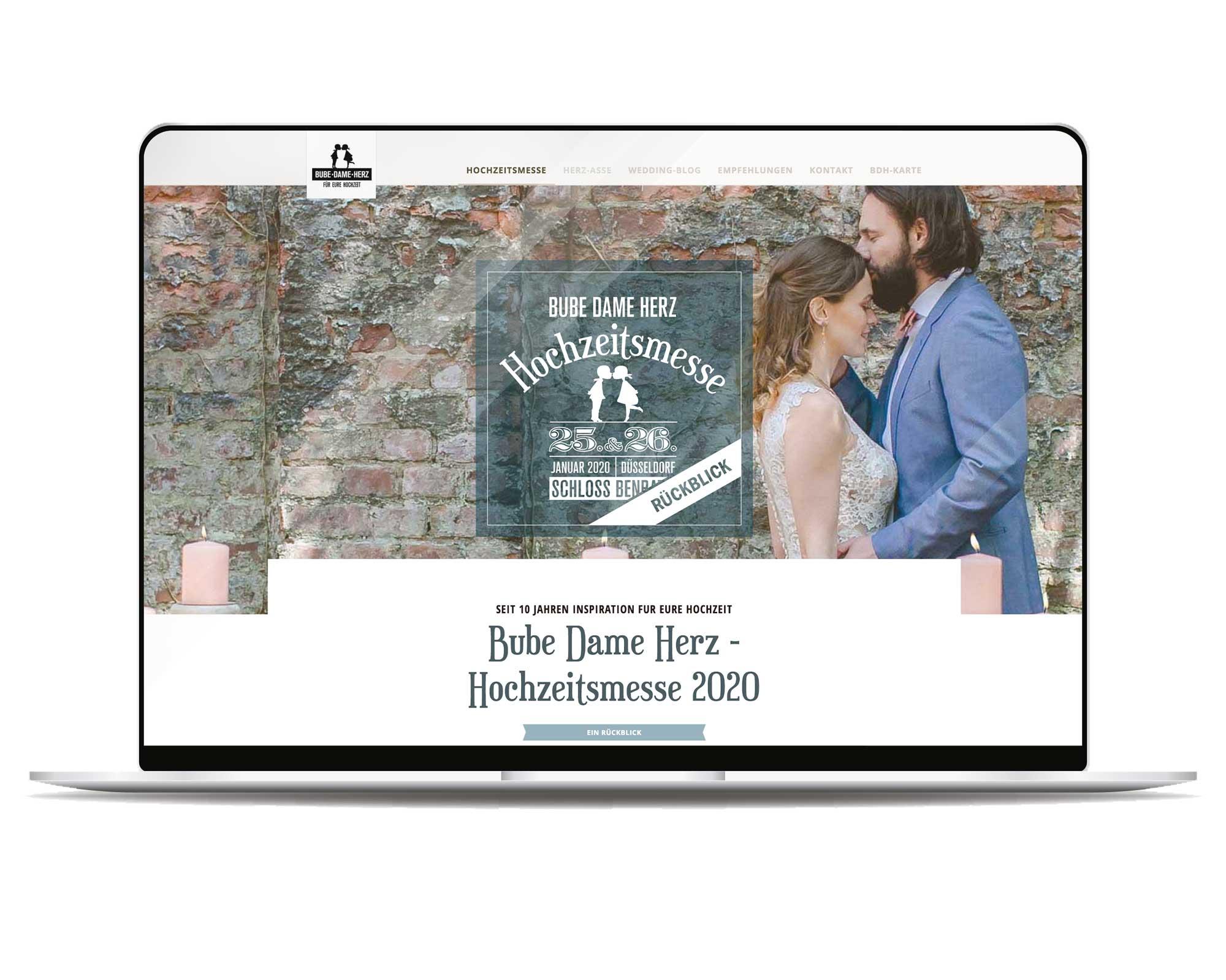 Webseite zu unserer BDH-Hochzeitsmesse