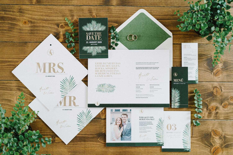 Schriftstuecke Hochzeitskarten