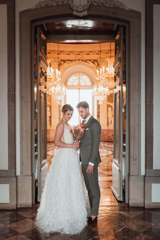 Brautpaar im Schloss Benrath