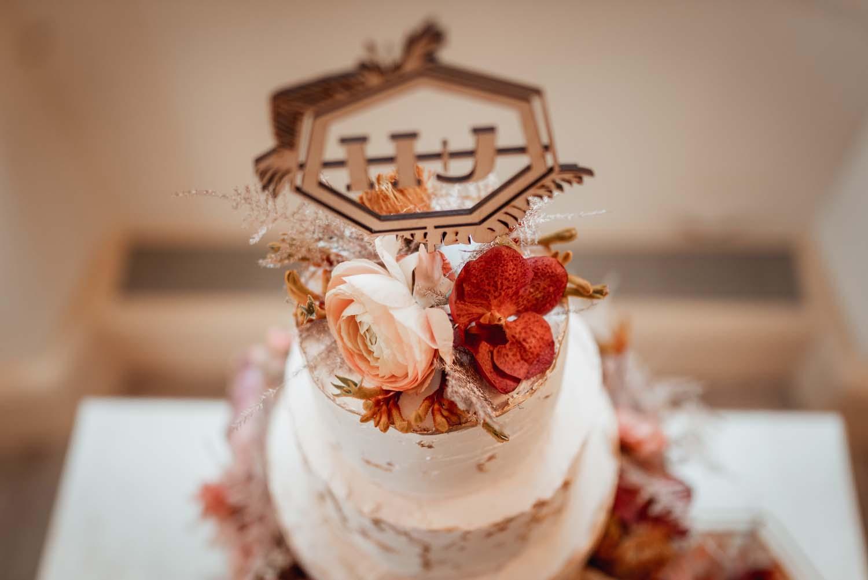 Hochzeitstorte Boho tres chic