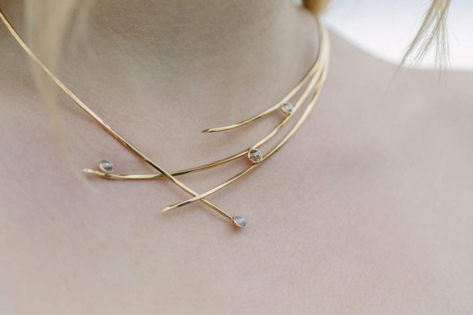 Goldenes Collier aus 750/- Gold