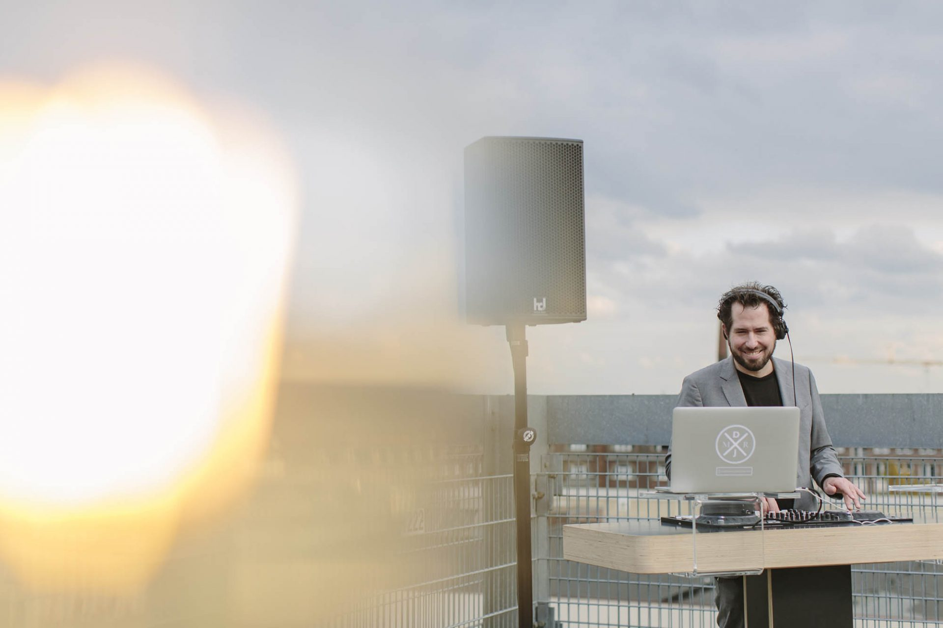 DJ Markus Rosenbaum in seinem Element
