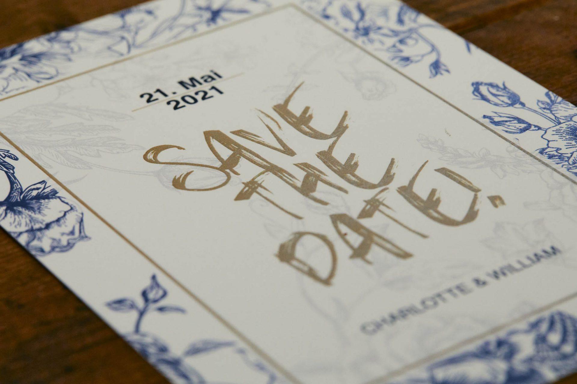 Save the Date - Karten in einer Mischung aus Landhausstil und Graffity